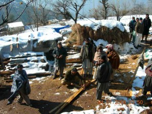 Winter conditions in Kashmir quake affected areas.