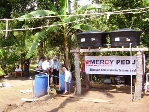 Water area built in partnership with Mercy Malaysia
