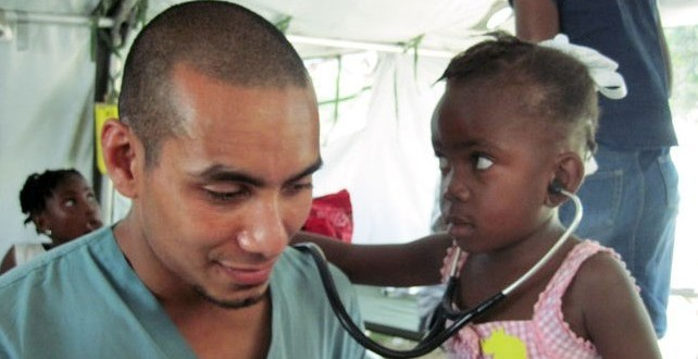 Rashad Chin, Stethoscope, child, Haiti