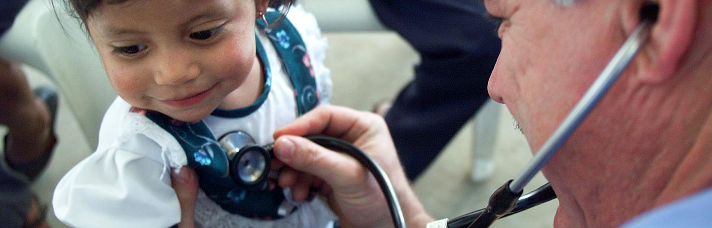 Girl, stethoscope, health
