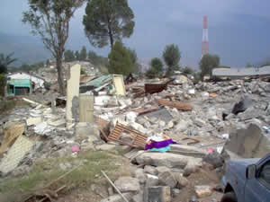 Total destruction in Balakot