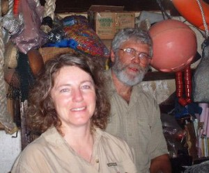 Dr. David Ratcliffe and his wife, Una LeDrew on board the KM Batavia.