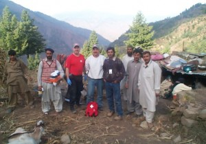 CMAT team #1 at a clinic they established in Bagh.