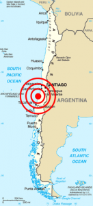 8.8 quake in Chile - a life threatening tsunami is likely (Source: GDACS website)