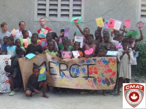 Children at a local orphanage send their thanks for helping CMAT to provide them with basic medical care.