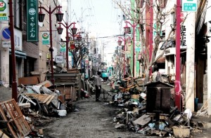Ishinomaki was severely affected by both the earthquake and the tsunami.