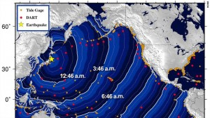 The threat of a tsunami prompted the U.S. National Weather Service to issue a warning for at least 50 countries and territories after an 8.9-magnitude earthquake struck Japan Friday. The wide-ranging list includes Russia and Central American countries like Guatemala, El Salvador and Costa Rica and the U.S. state of Hawaii. (Map courtesy CNN.com)