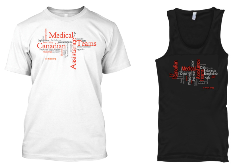 Sample images of two of the available limited edition CMAT shirts!