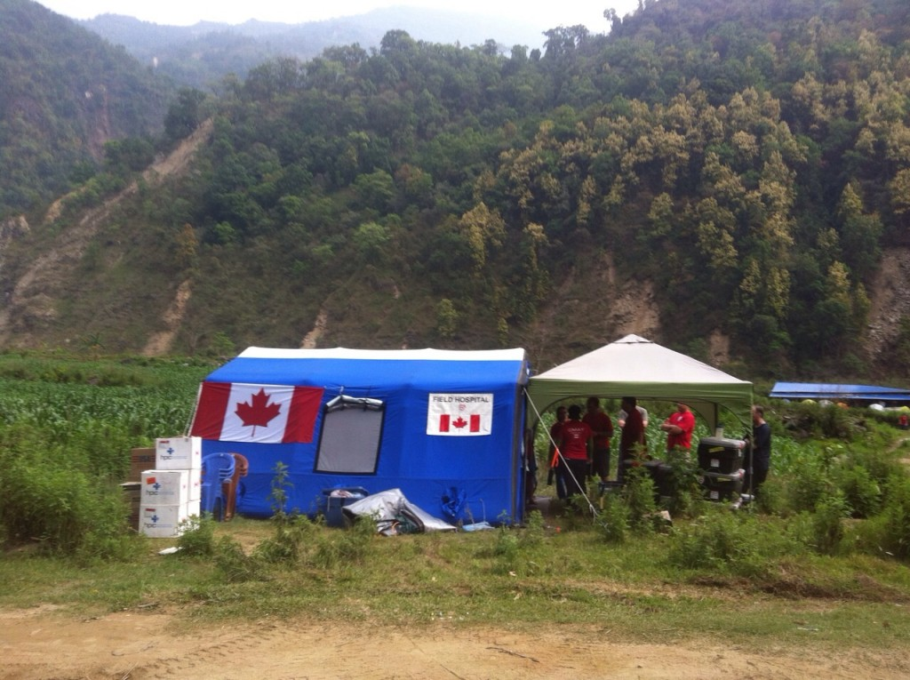 CMAT Field Clinic set up near the town of Balowa in rural Nepal.