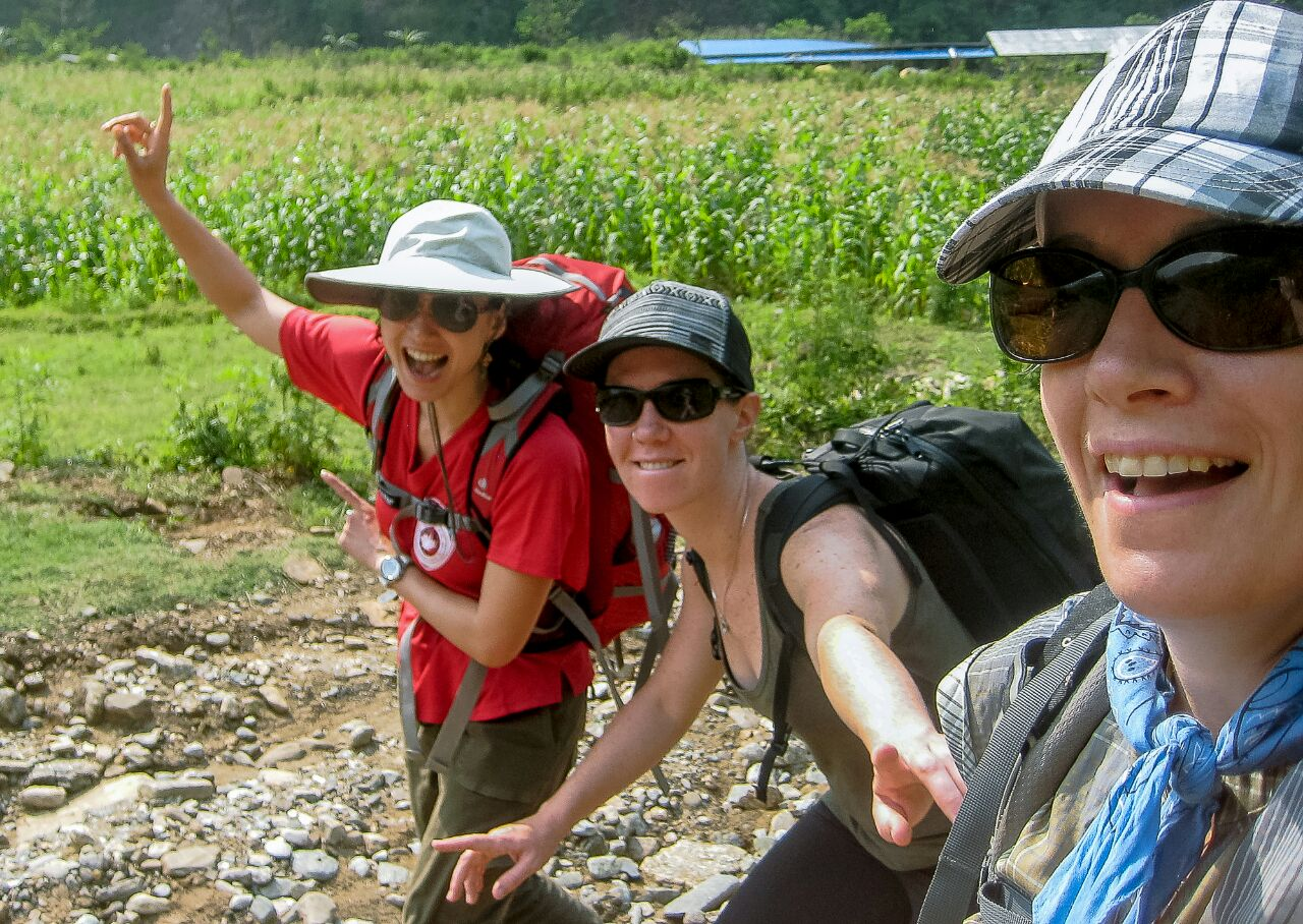 CMAT Team members have been trekking to high mountain villages, and through rice fields to deliver health care to patients who would otherwise go without.
